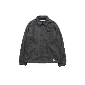 PANCAKE ARCH LOGO WOOL COACH JKT MIX GREY
