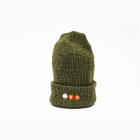 W-BASE PROJECT LOGO BEANIE OLIVE