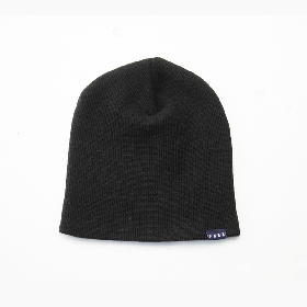 PANCAKE - SINGLE BEANIE - BLACK