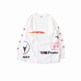 W-BASE CHAOS LONG SLEEVE TEE WHITE