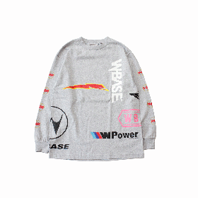 W-BASE CHAOS LONG SLEEVE TEE GREY