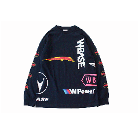 W-BASE CHAOS LONG SLEEVE TEE NAVY