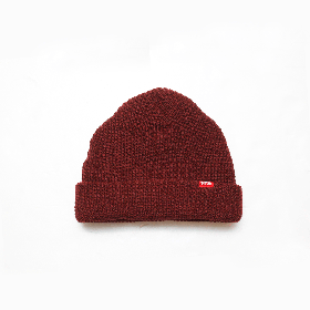 W-BASE RED TAB BEANIE BURGUNDY