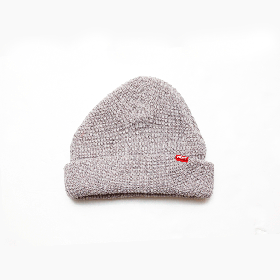 W-BASE RED TAB BEANIE GREY