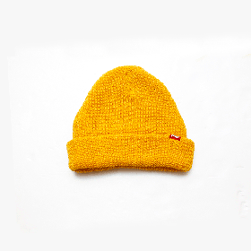 W-BASE RED TAB BEANIE MUSTARD