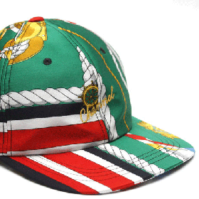 CHANNEL CAP CO Classic 6-panel cap GREEN/GOLD