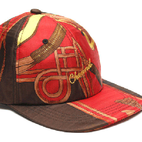 CHANNEL CAP CO Classic 6-panel cap RED/BROWN