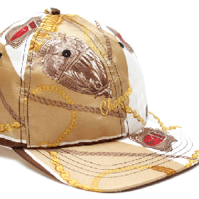 CHANNEL CAP CO Classic 6-panel cap WHITE/GOLD