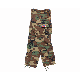 W-BASE OVAL LOGO PATCH BDU PANTS WOODLAND CAMO