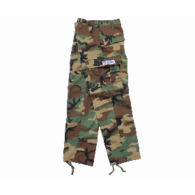 W-BASE CONVOY PATCH BDU PANTS WOODLAND CAMO