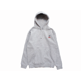 W-BASE SQUAD LOGO PULLOVER HOODIE GREY