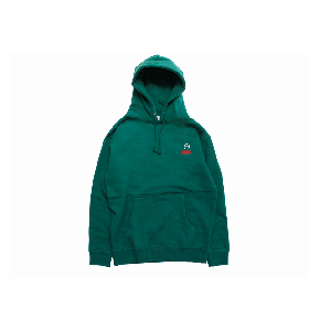 W-BASE SQUAD LOGO PULLOVER HOODIE GREEN