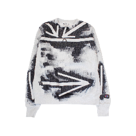 MODESTY INDUSTRY Hand Dye Reverse Weave Sweatshirt_Arrow