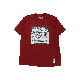 PNCK BOX VAN TEE BURGUNDY