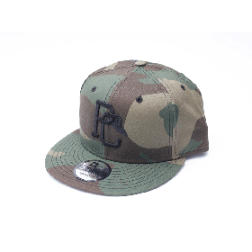 PANCAKE - TEAM LOGO SNAP BACK CAP - WOOD LAND CAMO