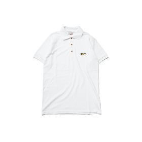 W-BASE WMAN LOGO POLO SHIRTS WHITE