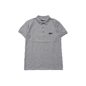 W-BASE WMAN LOGO POLO SHIRTS GREY