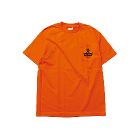 W-BASE SOLUTION LOGO POCKET TEE ORANGE