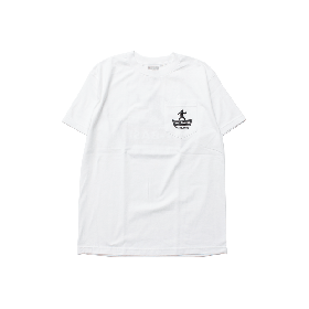 W-BASE SOLUTION LOGO POCKET TEE WHITE
