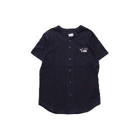 W-BASE ATHLETIC LOGO BASEBALL SHIRTS NAVY