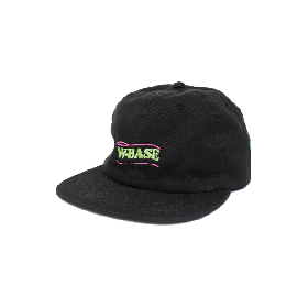 W-BASE WAVE LOGO 6PANNEL CAP BLACK