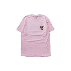 W-BASE SUNSET LOGO TEE PINK
