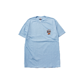 W-BASE SUNSET LOGO TEE CARORINA BLUE
