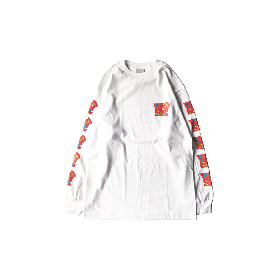 W-BASE SCULPTURE LOGO LS TEE WHITE