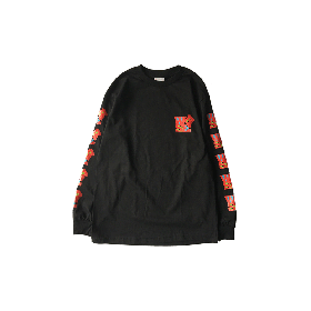 W-BASE SCULPTURE LOGO LS TEE BLACK