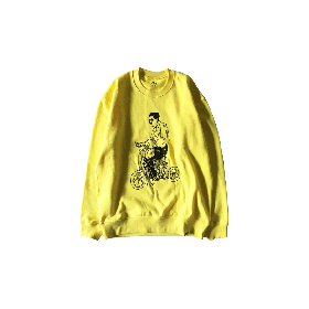 PNCK SCOOT CREW NECK SWT YELLOW
