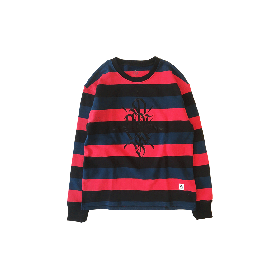 PNCK BOADER CREW NECK SWEAT RED