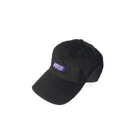 W-BASE TEAM LOGO 6PANNEL CAP BLACK