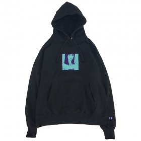 W-BASE x KYNE 13th ANNIVERSARY EDITION PULLOVER HOODIE BLACK