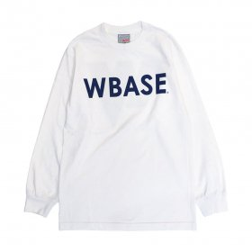 W-BASE WARMY L/S TEE WHITE / NAVY