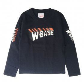 W-BASE WMAN LOGO KIDS LONG SLEEVE TEE NAVY