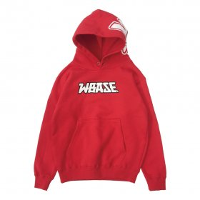W-BASE - K.O. KIDS PULL OVER HOODIE - RED