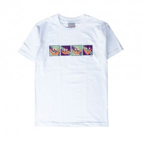 YOSHI47 × W-BASE DEPUTAMADRE SHORT SLEEVE TEE SHIRTS WHITE