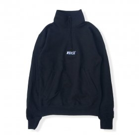 W-BASE TEAM LOGO Q-ZIP SWEAT BLACK