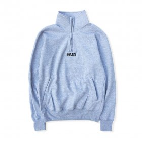 W-BASE TEAM LOGO Q-ZIP SWEAT GREY