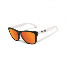OAKLEY - FROGSKINS - SPORTS HERITAGE COLLECTION -  POLISHED BLACK/FIRE IRIDIUM
