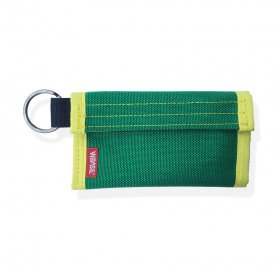 W-BASE x CRANK COIN WALLETS  GREEN/YELLOW