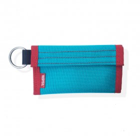 W-BASE x CRANK COIN WALLETS  TEAL/RED
