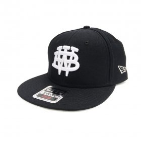 W-BASE - COLLEGE MARK B.B CAP - BLACK
