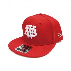 W-BASE - COLLEGE MARK B.B CAP - RED
