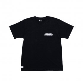 W-BASE x BROOKLYN MACHINE WORKS - 18SUMMER T-SHIRT - BLACK