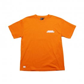 W-BASE x BROOKLYN MACHINE WORKS - 18SUMMER T-SHIRT - ORANGE