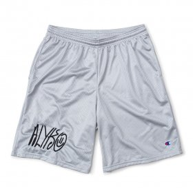 Act Like You Know - Self Portrait Embroidered Champion(TM) Mesh Short - Silver