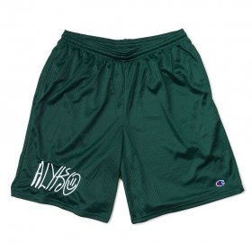 Act Like You Know - Self Portrait Embroidered Champion(TM) Mesh Short - Green