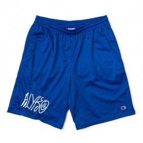 Act Like You Know - Self Portrait Embroidered Champion(TM) Mesh Short - Royal Blue