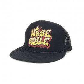 W-BASE - OLD SCHOOL LOGO MESH CAP - BLACK